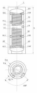 Технически характеристики буферен съд с две серпентини SUNSYSTEM PS2