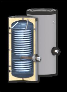 Моделът подов бойлер с две серпентини SUNSYSTEM SWP 2N е изключително подходящ за подвързване към парно, слънчеви и термопомпени системи.
