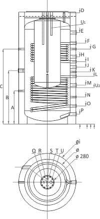 Комбиниран бойлер SUNSYSTEM KSC 2 – с две серпентини